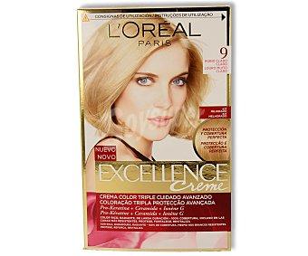 L'Oréal Paris Coloración Permanente nº 9 Rubio Claro Claro de Excellence 1 ud