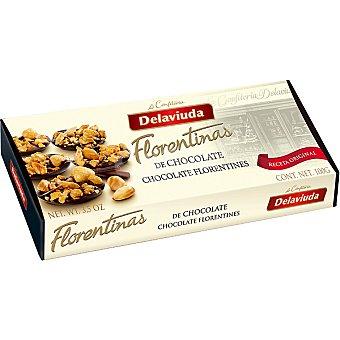 Delaviuda Galletas de mantequilla cubiertas de chocolate con frutos secos y caramelo Florentinas