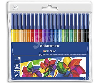 Staedtler Pack de 20 Rotuladores de Colores Polycolor 1 Unidad