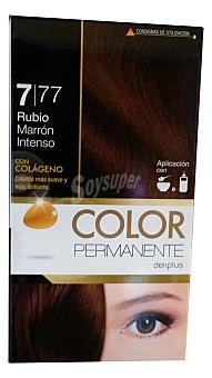 Deliplus Tinte coloracion permanente Nº 7,77 rubio marron intenso u