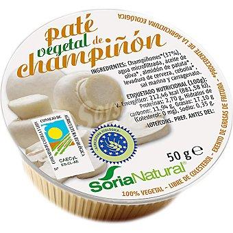 Soria Natural Paté vegetal de champiñón bio Envase 50 g