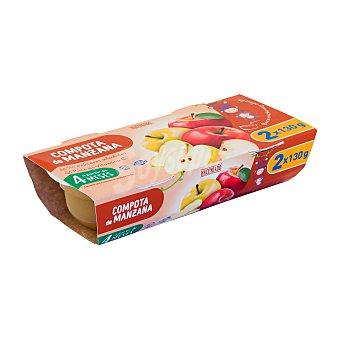 Hacendado Tarrito compota manzana a partir 4 meses Tarrina pack 2 x 130 g - 260 g