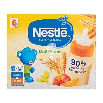 Papilla líquida con leche y cereales multifrutas a partir 6 meses