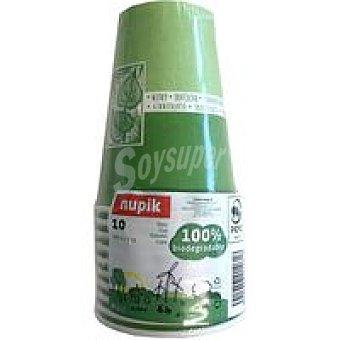 Nupik 10 Vasos biodegradables 150 cc Pack 1 unid