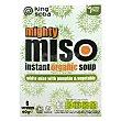 Sopa de miso con calabaza y verduras ecológica Pack de 6 unidades de 60 g King Soba