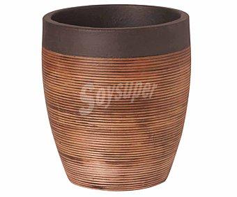 FANSA Maceta, vaso de rattan, sin agujero, ideal para interiores y de 24x18 centímetros 1 unidad