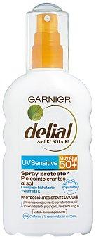 Delial Garnier Spray Solar. Factor de Protección 50 200 Mililitros