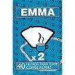 Filtro para cafetera x 2 caja 40 unidades Emma
