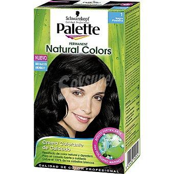 Schwarzkopf Palette Tinte Naturals Colors nº 01 negro pimienta crema colorante permanente con aloe vera Caja 1 unidad