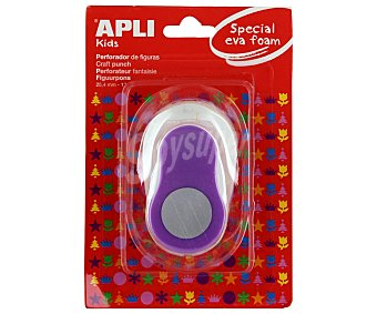APLI Perforadora de goma eva de color lila y con forma de círculo apli