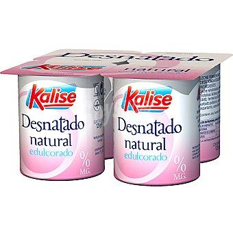 Kalise Yogur natural desnatado edulcorado Pack de 4x125 g