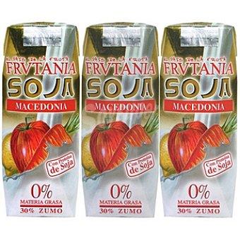 Frutania Macedonia zumo de frutas con soja Pack 3 envase 250 ml