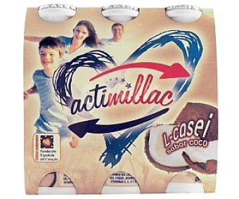 ACTIMILLAC Yogur Lcasei Coco 6 Unidades de 105 Gramos
