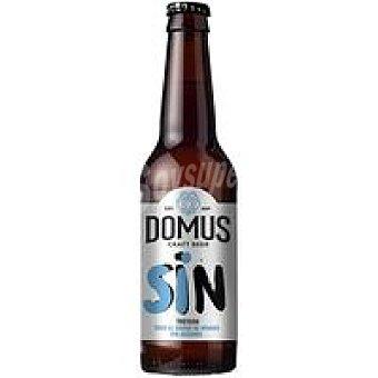 Domus Cerveza tostada sin alcohol Botellín 33 cl