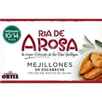 AROSA Mejillón en escabeche 10/14 piezas rías de Lata 115 g