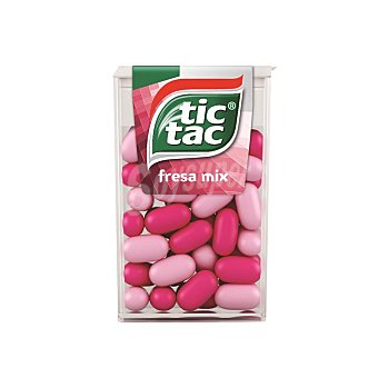 Tic tac Caramelos de fresa ácida y dulce Caja 18 g