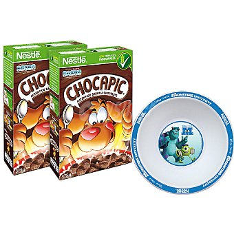 Chocapic Nestlé cereales de desayuno con regalo de un bol pack 2 paquetes 500 g