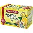 Infusión de jengibre al 51% con limón en bolsitas individuales Estuche 20 unidades Pompadour