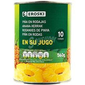 Eroski Piña en rodajas Lata 340 g