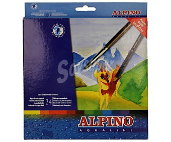 Alpino Caja con 24 lápices de colores acuarelables, que se pueden mezclar 1 unidad