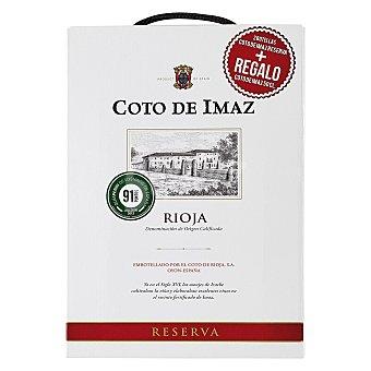 """Coto de Imaz Estuche de vino D.O. Ca. """"rioja"""" tinto reserva + regalo vino 50 cl. Pack 2x75 cl"""