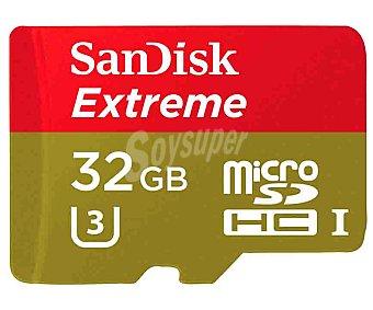 SANDISK EXTREME Tarjeta de memoria microsdhc 32GB + adaptador a SD