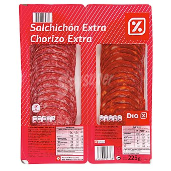 DIA Surtido chorizo / salchichón Envase 225 g