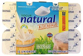 Hacendado Yogur natural azucarado Pack 12 x 125 g - 1,5 kg