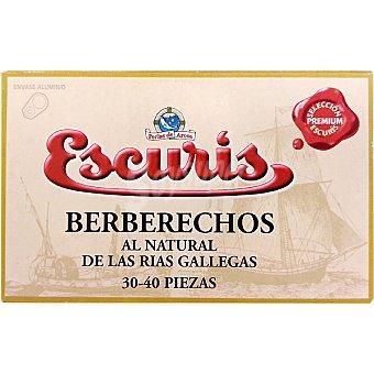 ESCURIS Berberechos de las rías gallegas al natural lata 65 g 30-40 piezas Lata 65 g