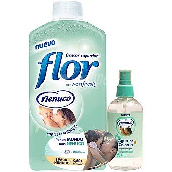 Flor Suavizante concentrado con acti fresh Nenuco botella 45 dosis + agua de colonia Nenuco fragancia original Botella 45 dosis