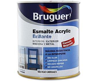Bruguer Esmalte acrílico sintético, de color rojo y acabado brillante 0,75 litros