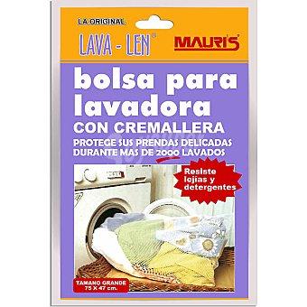 LAVA LEN Bolsa para lavadora con cremallera tamaño grande 75x47 cm