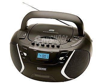 DAEWOO DBU-51 Radio casette y CD con sintonizador de radio FM, puerto usb, lector MP3