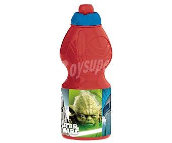 Star Wars Botella infantil de plástico con diseño de Star Wars, 0,4 litros de capacidad, 1 unidad