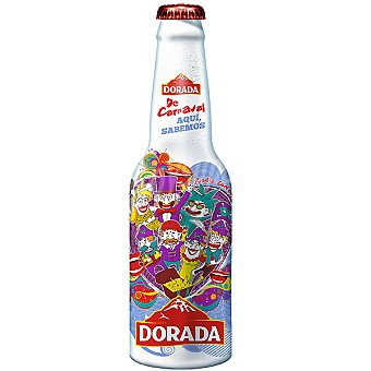 Dorada Cerveza rubia nacional Edición Carnavales botella 33 cl 33 cl