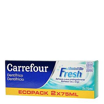 Carrefour Dentifrico aliento fresco Pack 2x75 ml