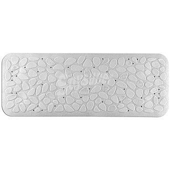 TOYMA Piedras Alfombra baño de caucho en color blanco 95 x 36 cm