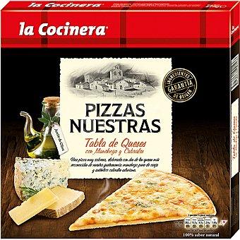 La Cocinera Pizza con manchego y cabrales Pizzas Nuestras Tabla de Quesos Estuche 290 g