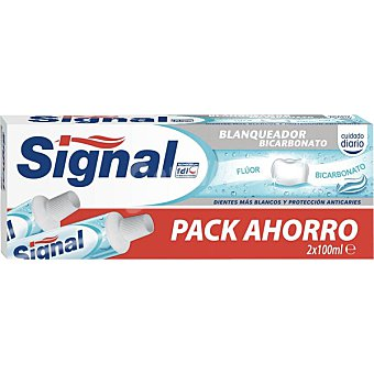 Signal Pasta dentífrica blanqueadora bicarbonato Pack 2 tubo 100 ml