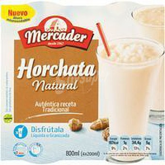 MERCADER Horchata natural Pack 4x190 ml