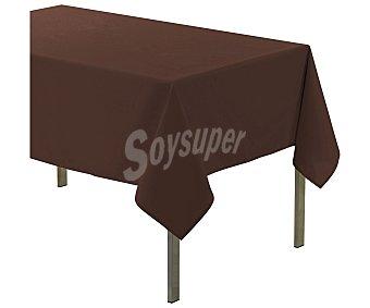 PRODUCTO ECONÓMICO ALCAMPO Essentiel Mantel rectangular de Pvc color marrón chocolate, 140x200cm., ALCAMPO.