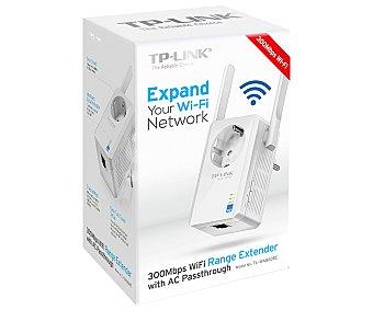 TP LINK TL-WA860RE Extensor de cobertura Amplifica la señal inalámbrica, diseño de tamaño en miniatura para montaje en pared facilita la instalación, 2 antenas externas fijas que proporcionan una cobertura wifi excelente
