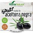 Paté vegetal de aceituna negra ecológico y sin gluten pack 2 tarrinas 50 g pack 2 tarrinas 50 g Soria Natural