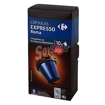 Carrefour Café cápsulas natural compatible con Nespresso 10 ud