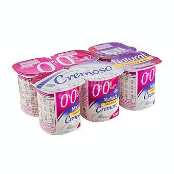 Hacendado Yogur desnatado cremoso natural edulcorado Pack 6 x 125 g
