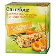 Barritas de cereales de albaricoque 125 g Carrefour