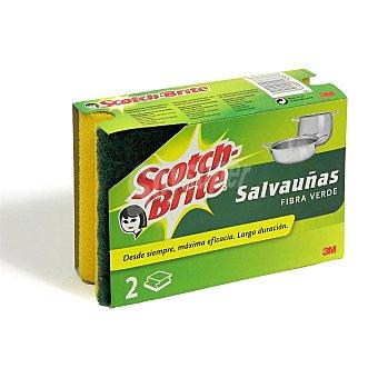 SCOTCH BRITE Estropajo salvauñas con fibra verde paquete 2 uds