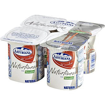 ASTURIANA NATUR LINEA Yogur cremoso con tonalín Pack 4 unidades 125 g