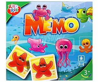 Rik&Rok Auchan Pon a Prueba tu Memoria con este Divertido Juego de Emparejar Cartas, de 2 a 4 Jugadores 1 Unidad