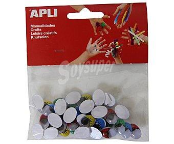 APLI Bolsa de ojos móviles adhesivos de goma eva y de diferentes colores 1 unidad